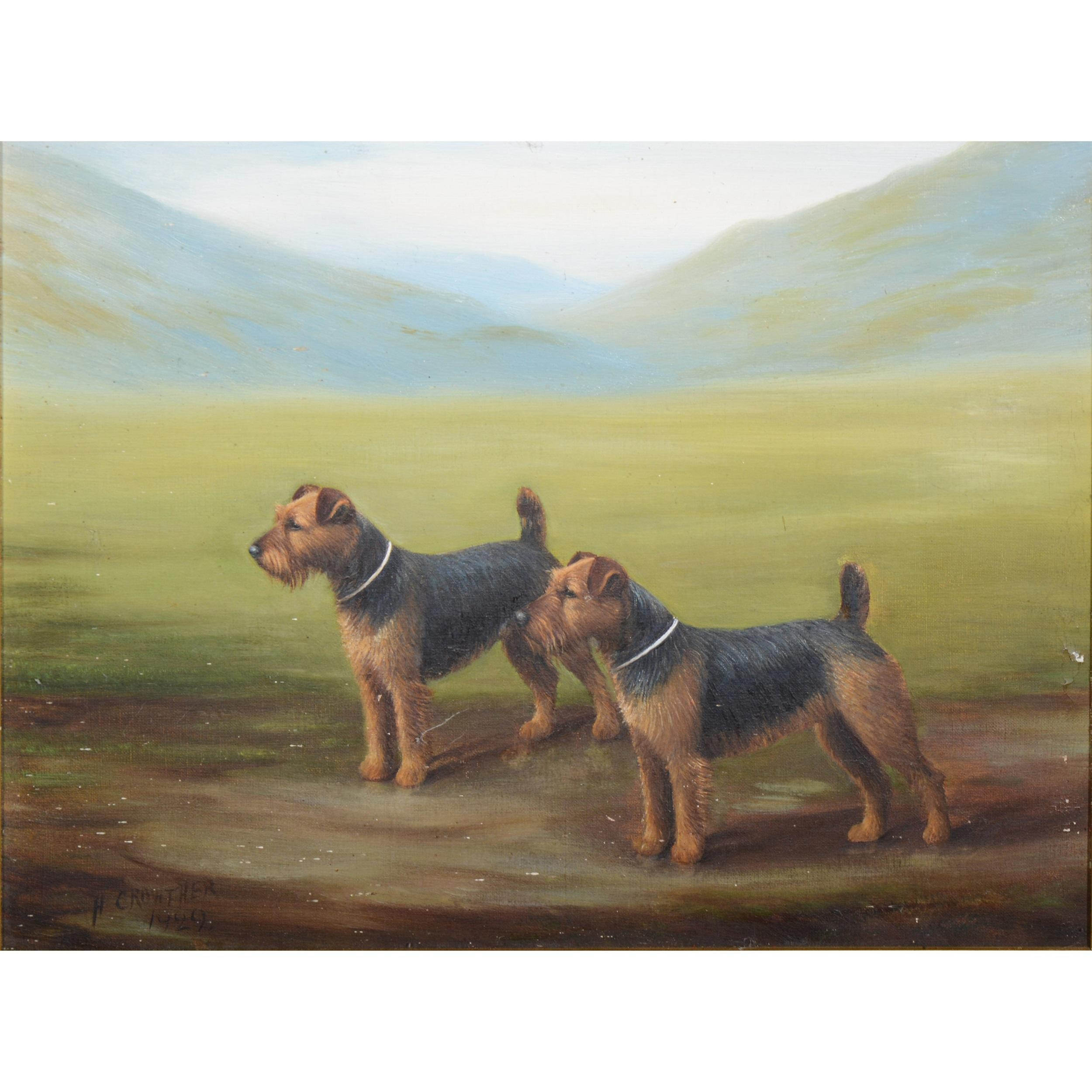 Henry Crowther, Two Terriers,  1929
